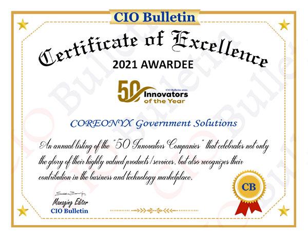 50 innovators certificate
